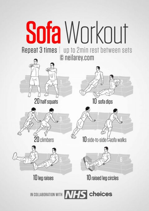 easy couch exercises workout