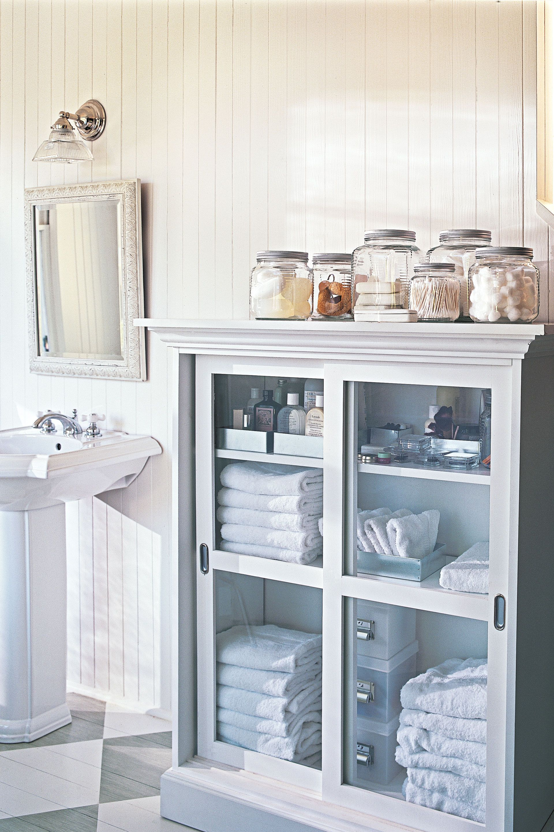 Bathroom Canisters 20 Bathroom Organization Ideas Best Bathroom Organizers To Try