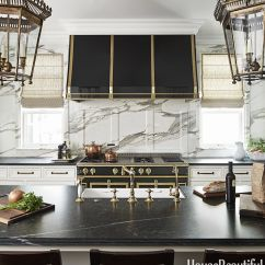 La Cornue Kitchen Wood Floors Black And White Design Luxe