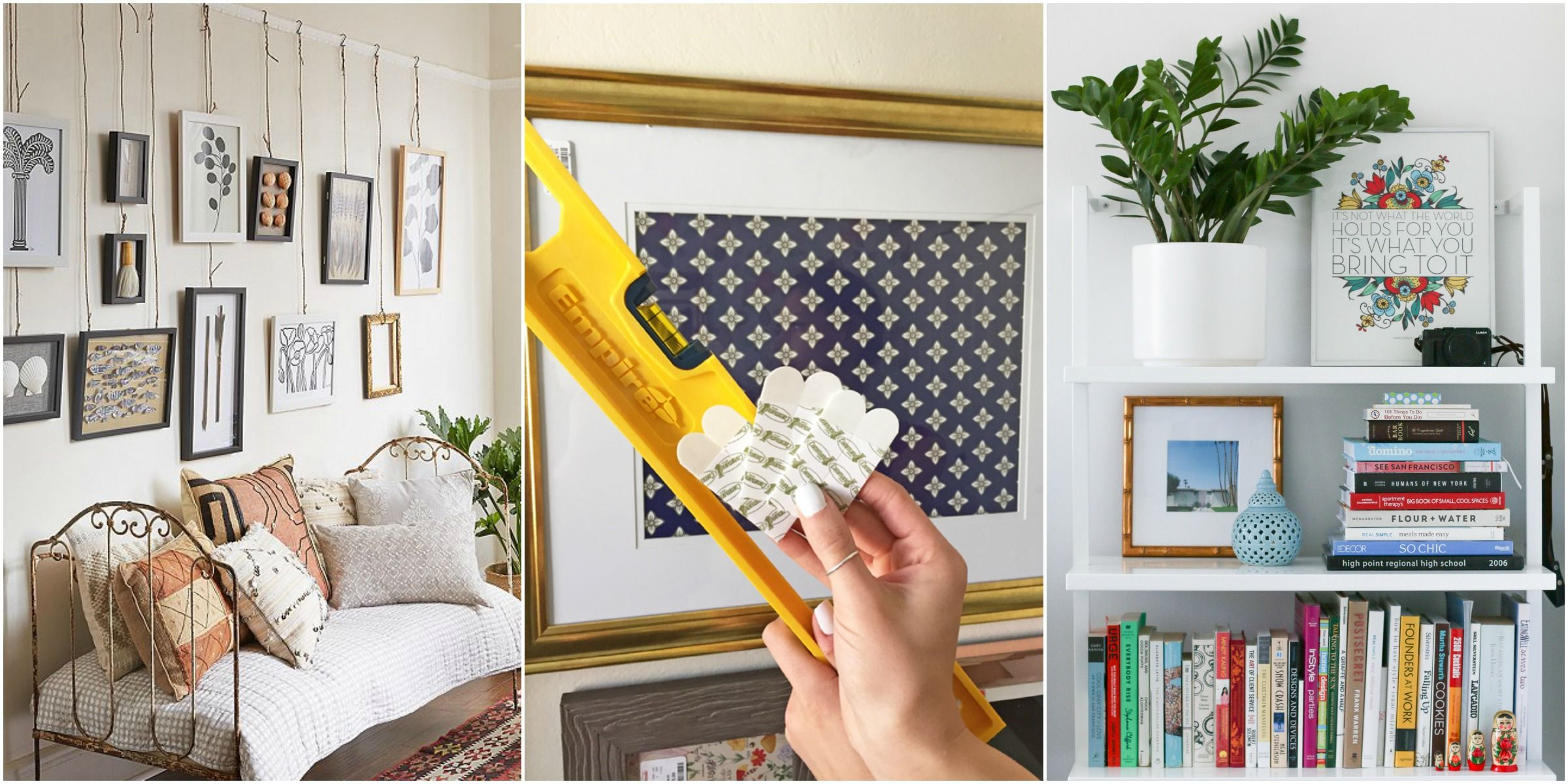 How To Hang A Picture Frame With Nails