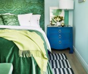 bedroom blue and green