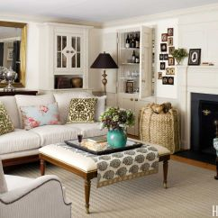 Cape Cod Style House Living Room Apartment Sized Furniture Neutral Decorating Ideas