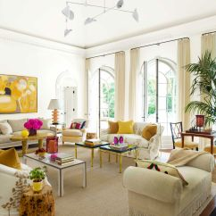 Tropical Decorating Ideas For Living Rooms Navy Blue And Red Room Colorful Beach House Decor Design Yellow Fuchsia Accents Eric Piasecki