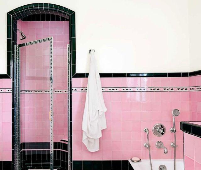 Pink Bathroom Tiles