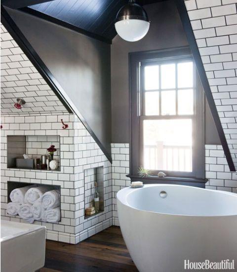Attic Bathroom  Masculine Bathroom Decor