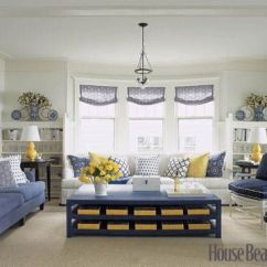 House Beautiful Living Room Ideas Paint Color Grey Cottage Style Designs Decorating A Home With Blue White And Yellow