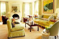 10 Best Green Living Rooms