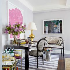 House Beautiful Living Room Ideas Low Table Small Nyc Apartment Design Lavender Decorating Striped Madeline Weinrib Rug Thomas Loof Desk