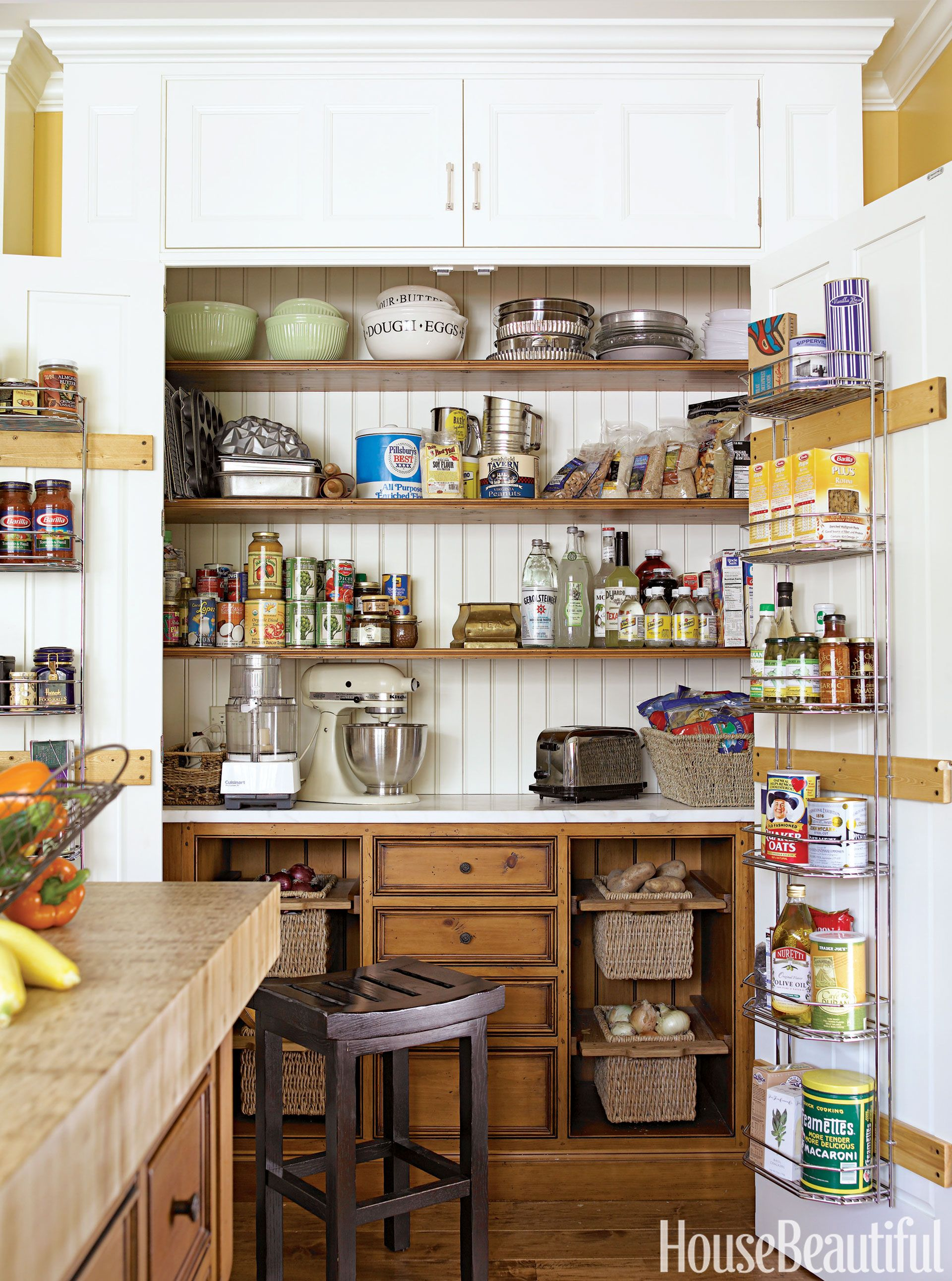 how to add a pantry your kitchen retro wall clock 24 unique storage ideas easy solutions for kitchens