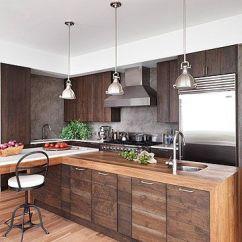 Walnut Cabinets Kitchen Aid Food Processor Modern Wood