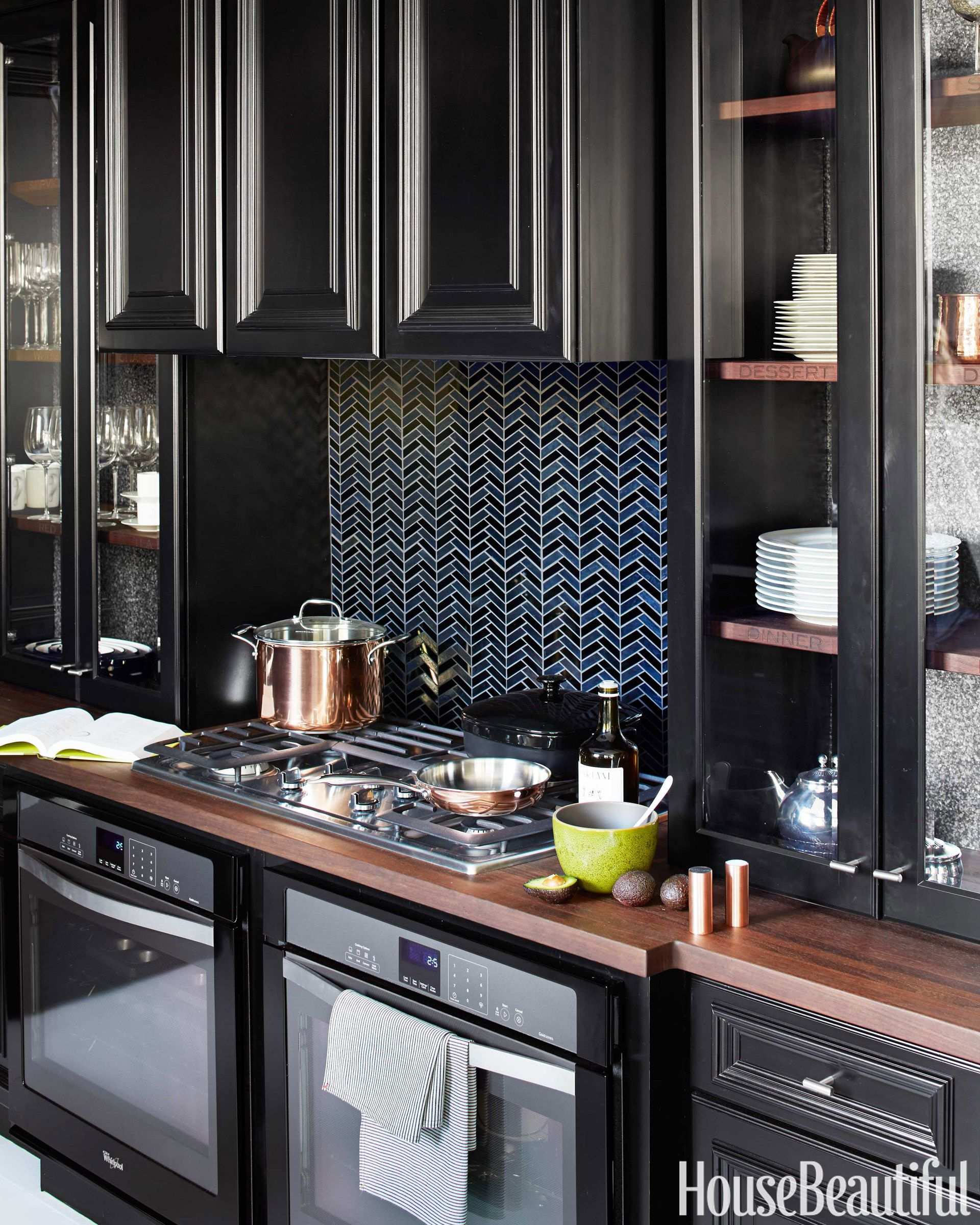 kitchen black cabinets exhaust hoods 10 cabinet ideas cabinetry and cupboards whirlpool gold gas cooktop