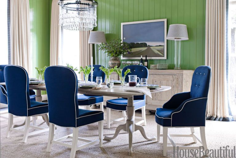green dining room chairs seat lifts for color pictures area with walls and a blue bench