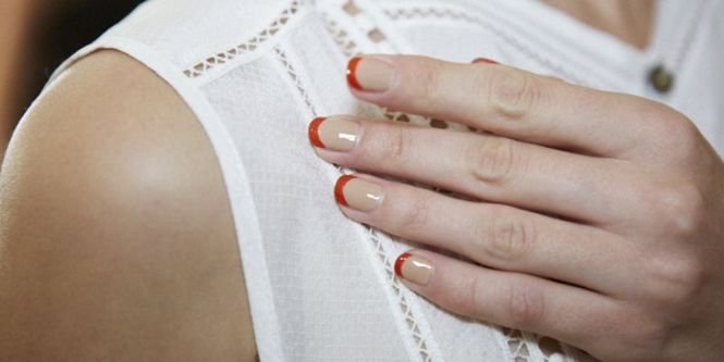 Gelish Spring Orange Nails By Funky Fingers Factory