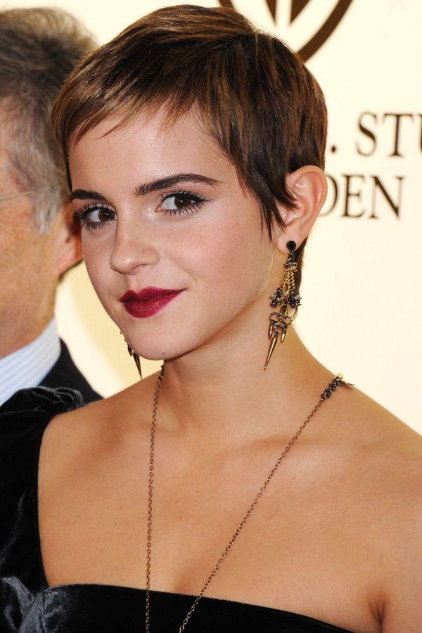 Pixie frizura Ema Votson (Emma Watson)
