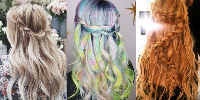 10 waterfall braid hairstyles - waterfall braided hair