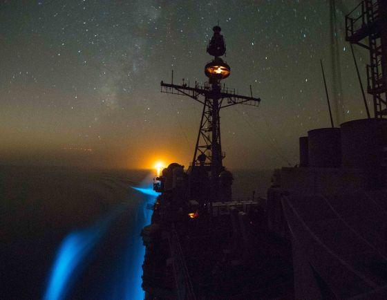 USS Princeton transits Strait of Hormuz