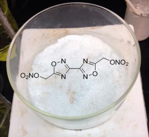 Oxadiazole has a calculated detonation pressure 50 percent higher than that of TNT. LANL