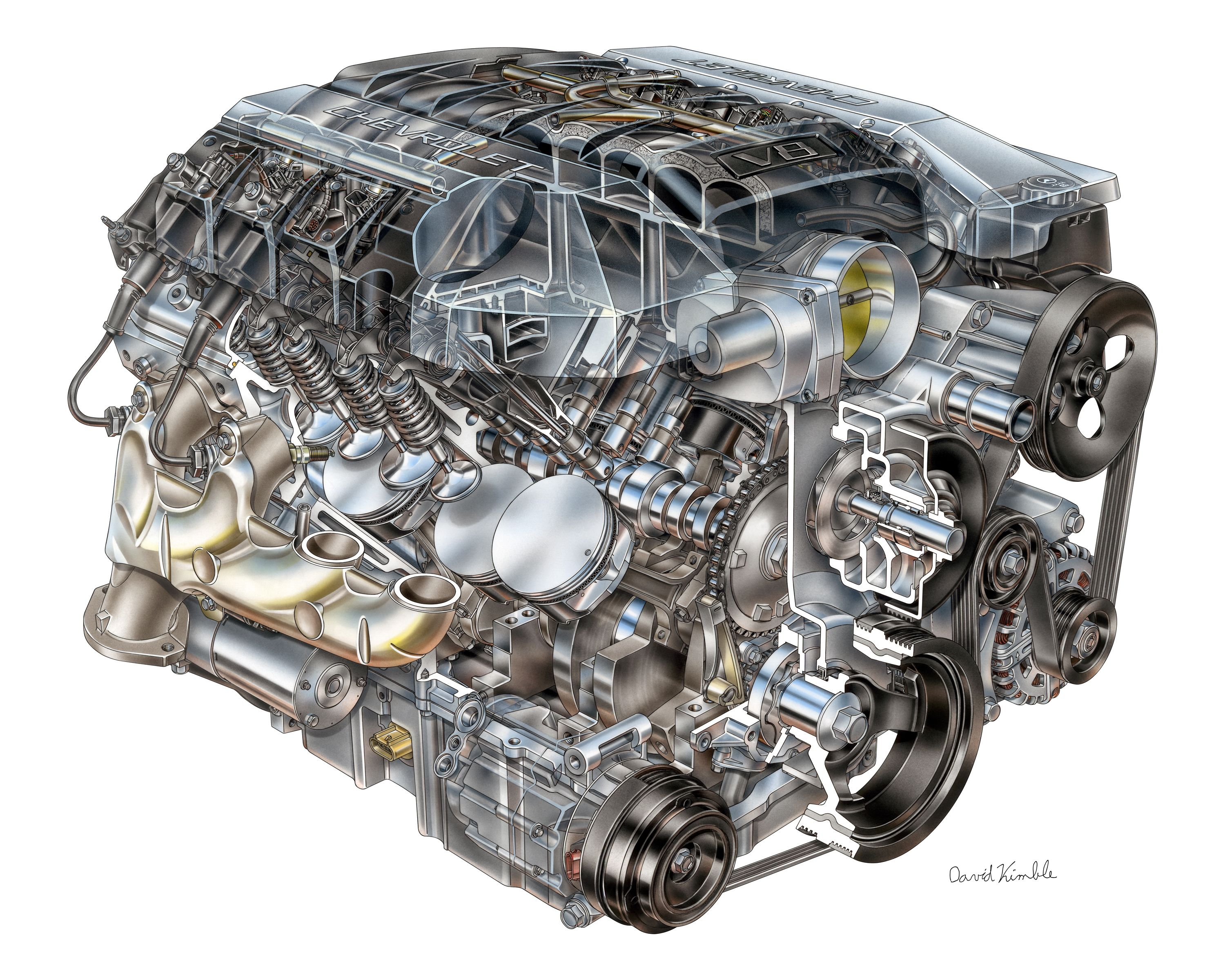 what chevy gains by using a pushrod engine in the corvette corvette v8 engine diagram [ 3000 x 2400 Pixel ]