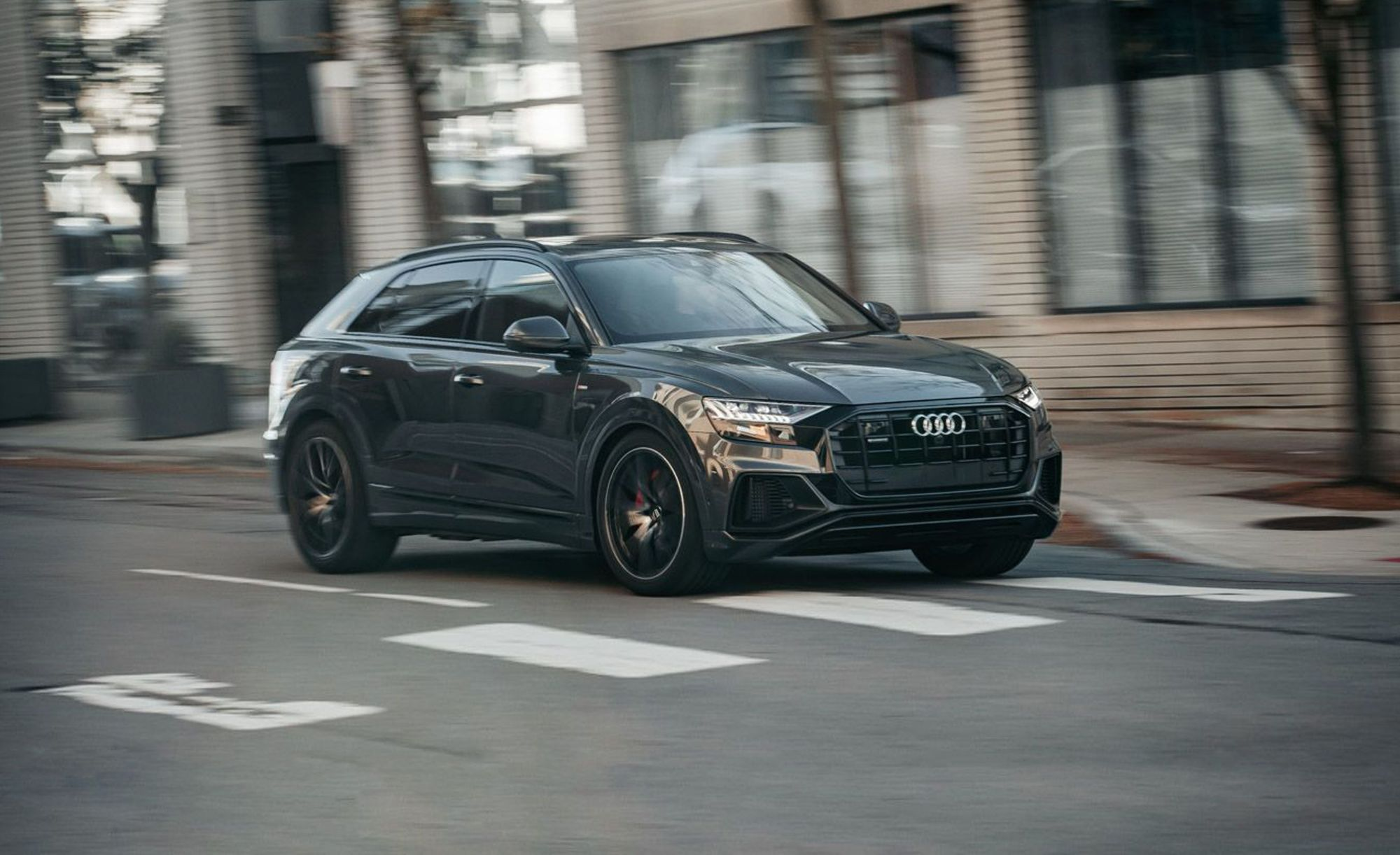 hight resolution of the 2019 audi q8 is what luxury sedans have become