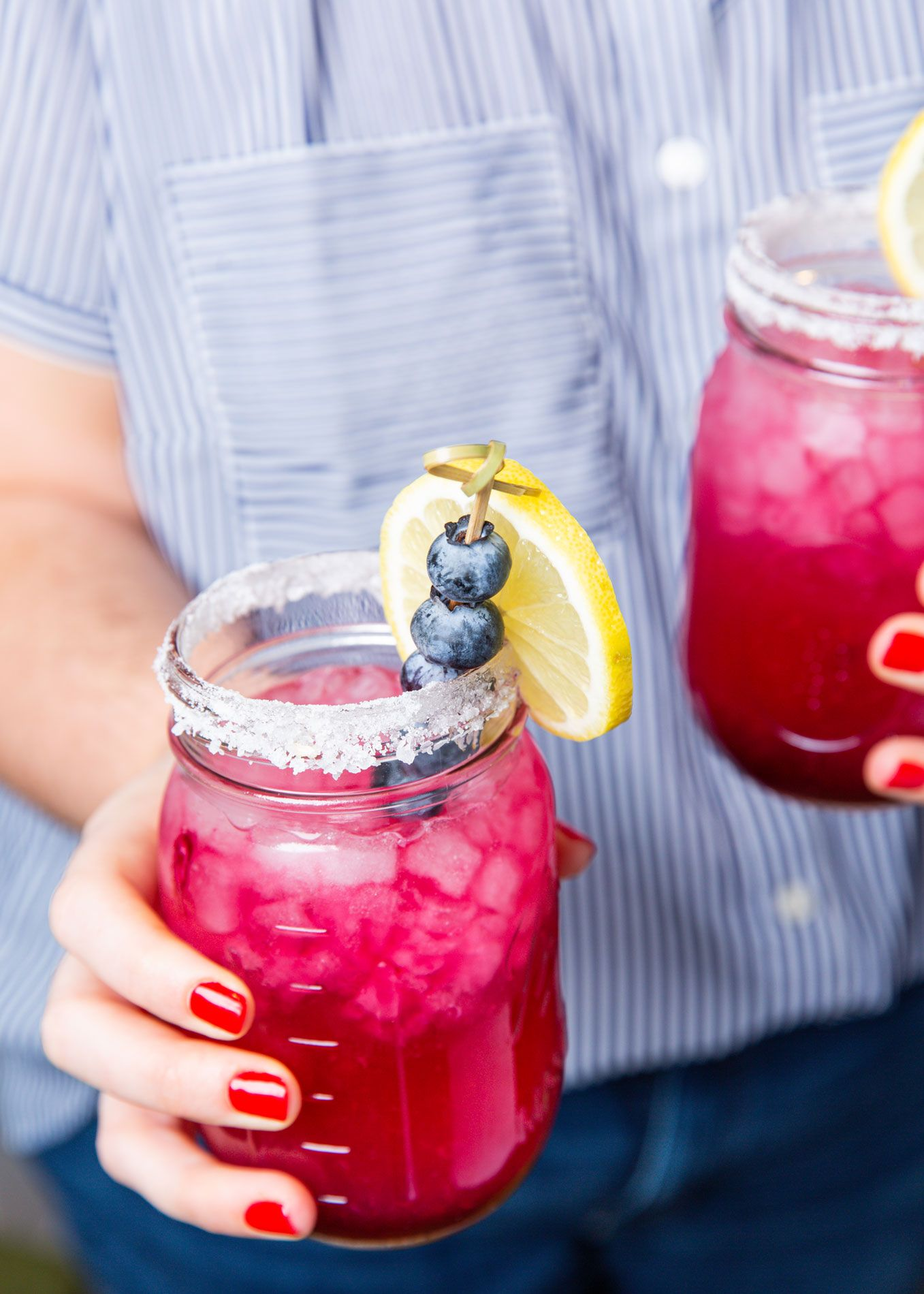 Blueberry Lemonade Margaritas - Delish.com