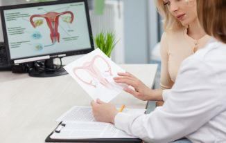 Discussing uterus issues with doctor