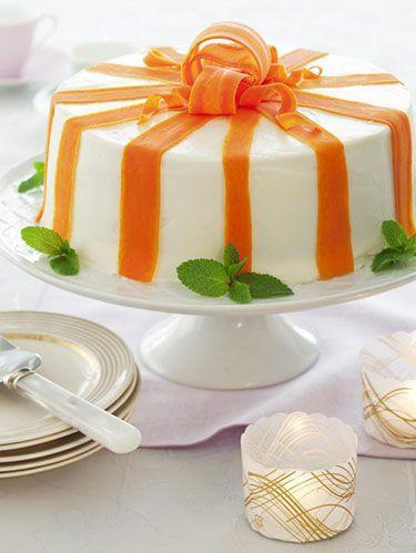 easter -Carrot Ribbon Cake