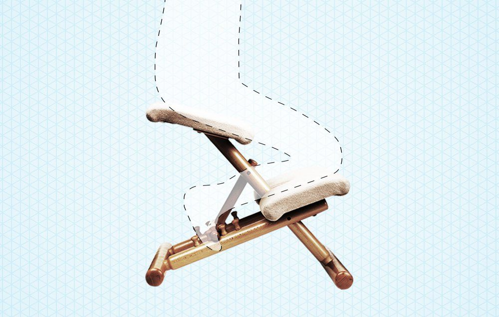 best kneeling chair teak dining upholstery why you should get a for your back pain men s health