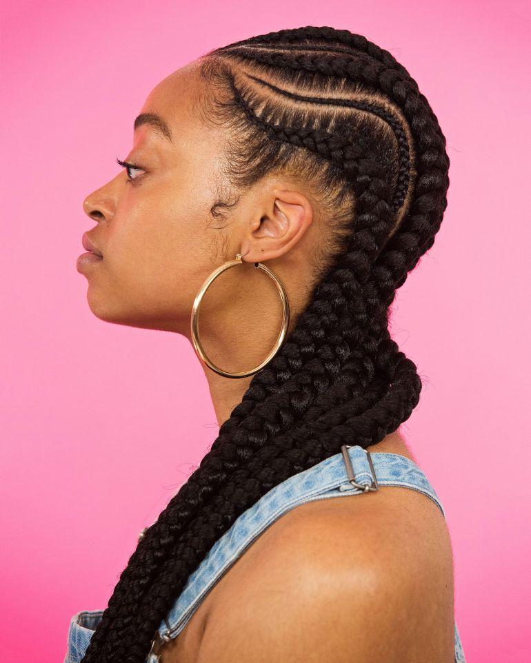 Swirly snake braids