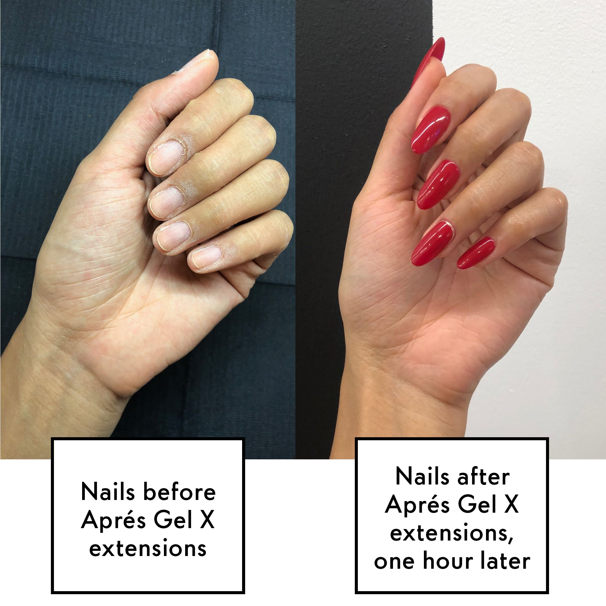 gel nail extensions vs