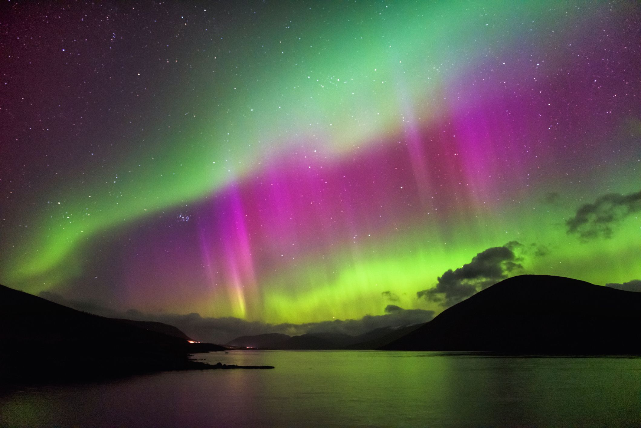 the northern lights appeared