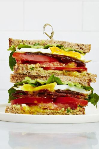 BLT with fried egg and avocado