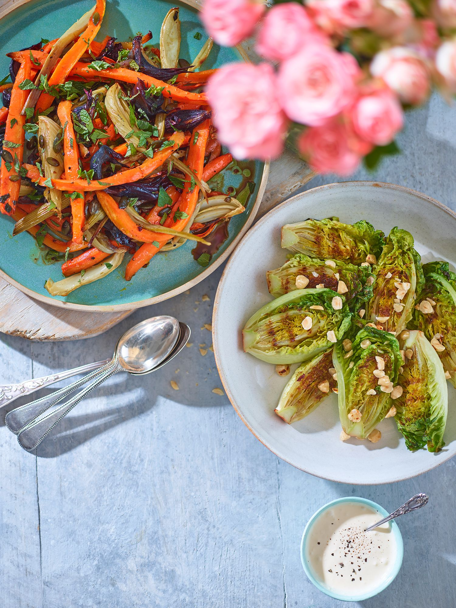 roasted root salad and
