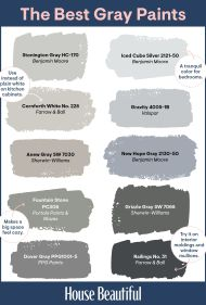 28 Best Grey Paint Colors - Top Shades of Gray Paint