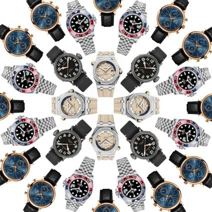 Different colours and designs of Swiss Watches