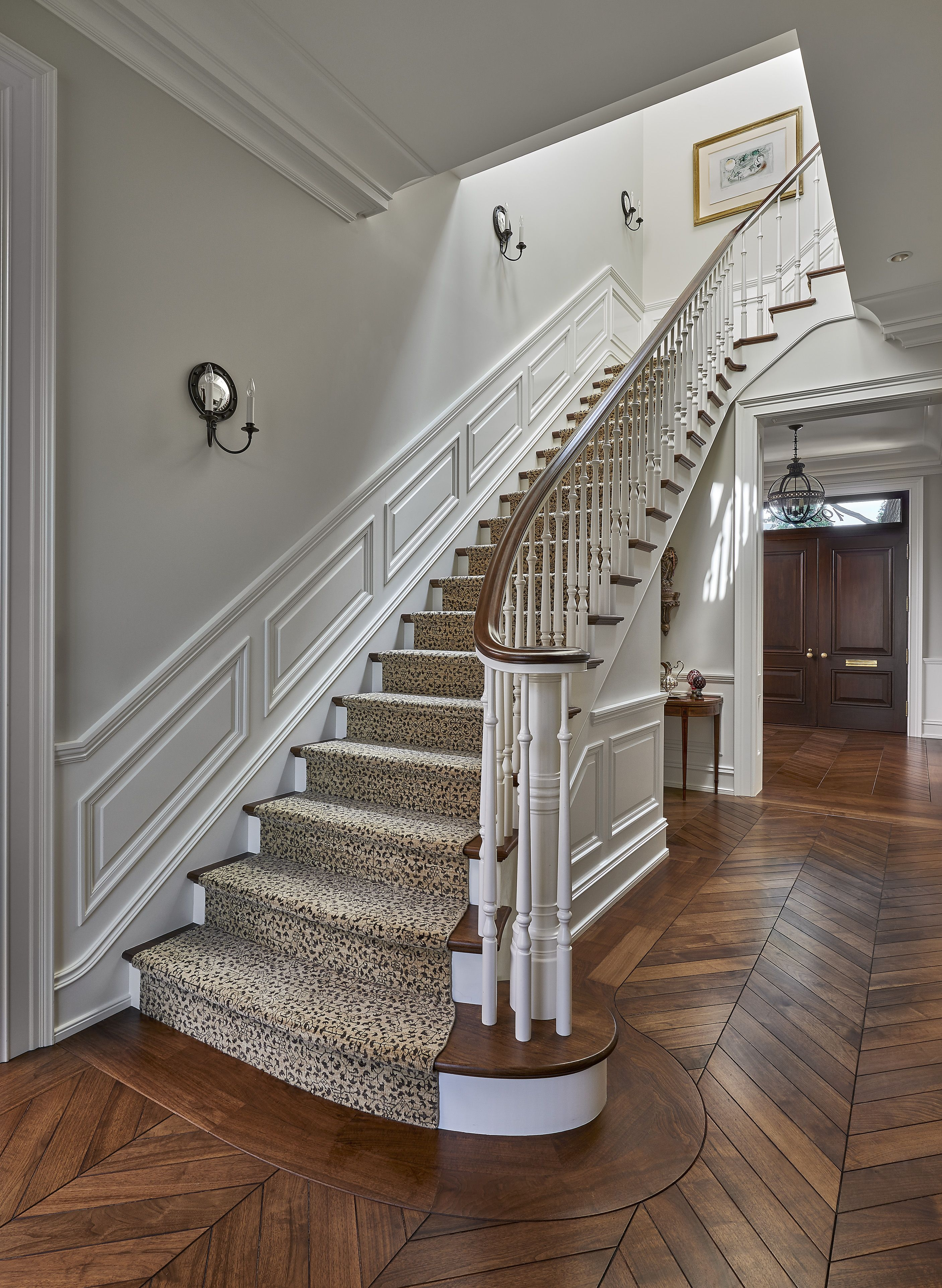 25 Stunning Carpeted Staircase Ideas Most Beautiful Staircase | Carpet For Bedrooms And Stairs | Modern Staircase | Staircase Remodel | Dark Grey Carpet | Stair Railing | Stair Treads