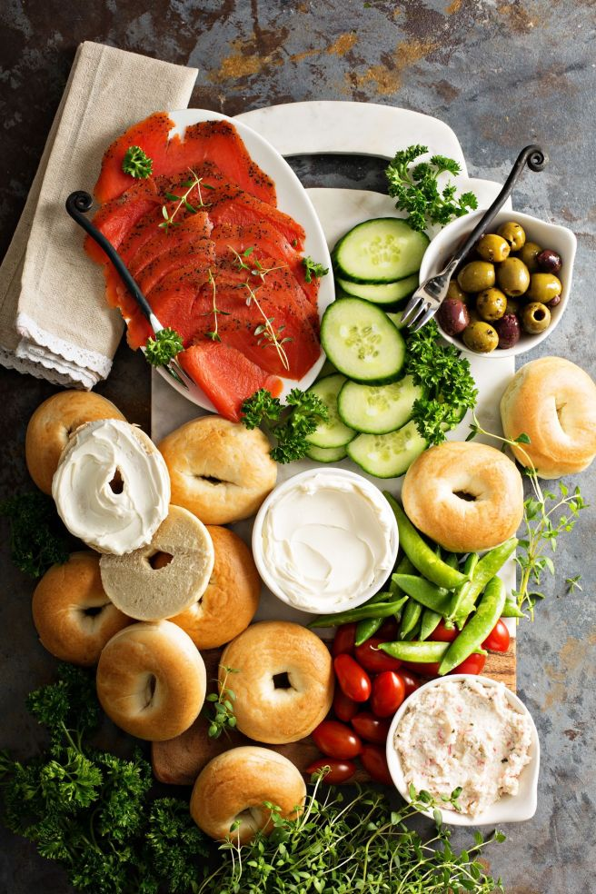 mothers day ideas during quarantine   bagel brunch