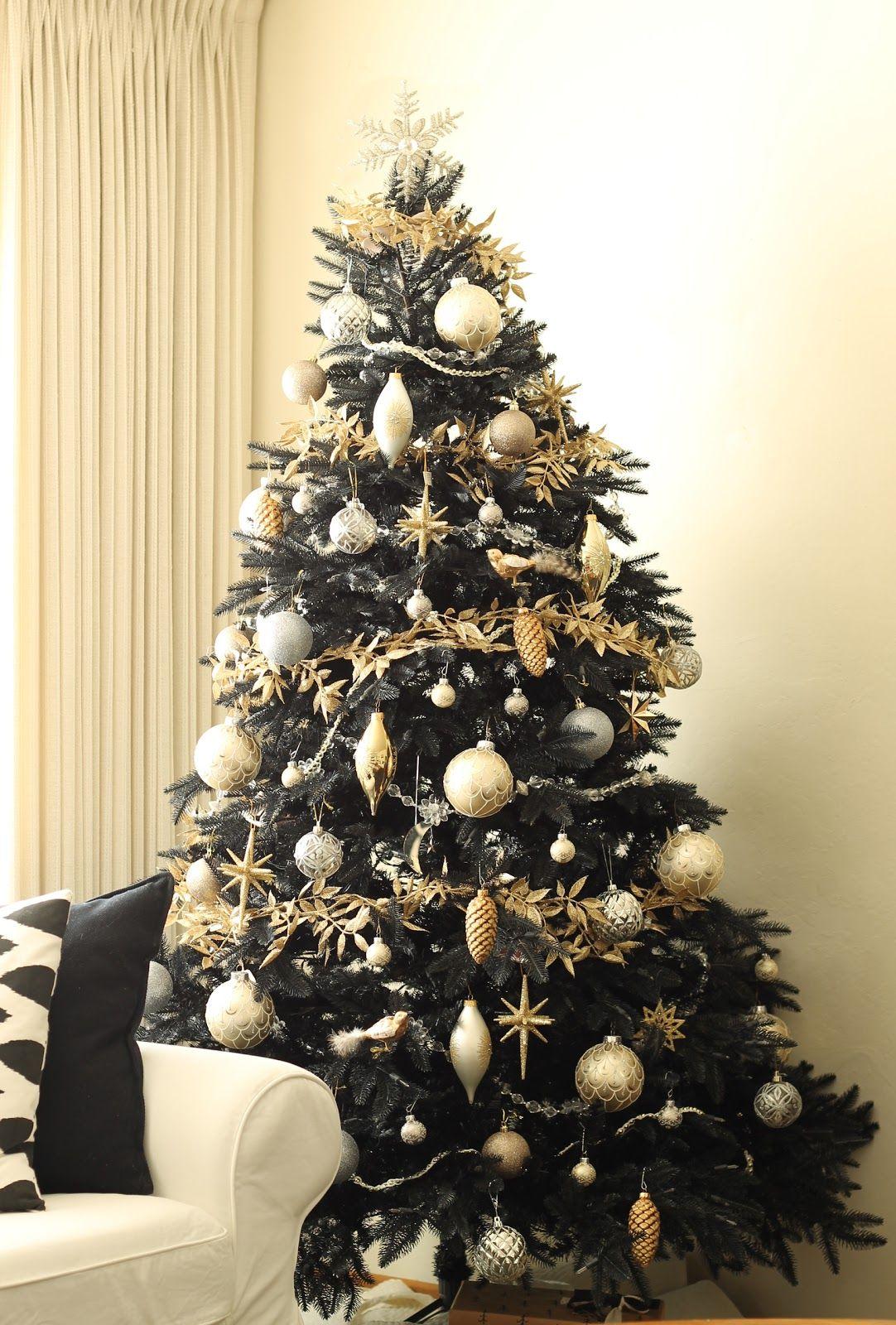 12 Best Black Christmas Tree Ideas  Decorate Black Christmas Trees