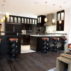 Kitchen Black Cabinets Backsplash For Ideas 30 Sophisticated Designs With