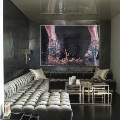 Living Room Decorating With Black Furniture Red Couch Modern 35 Ideas How To Use Wall Paint Decor