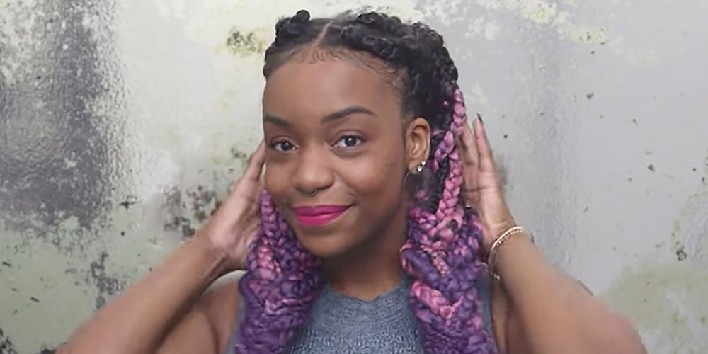 6 cool box braid hairstyles