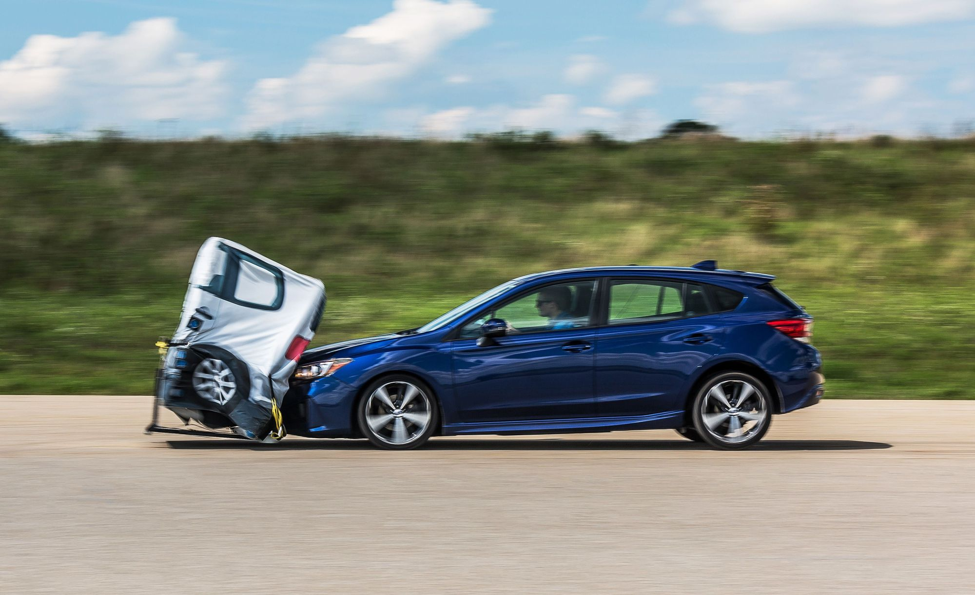 hight resolution of we crash four cars repeatedly to test the latest automatic braking safety systems