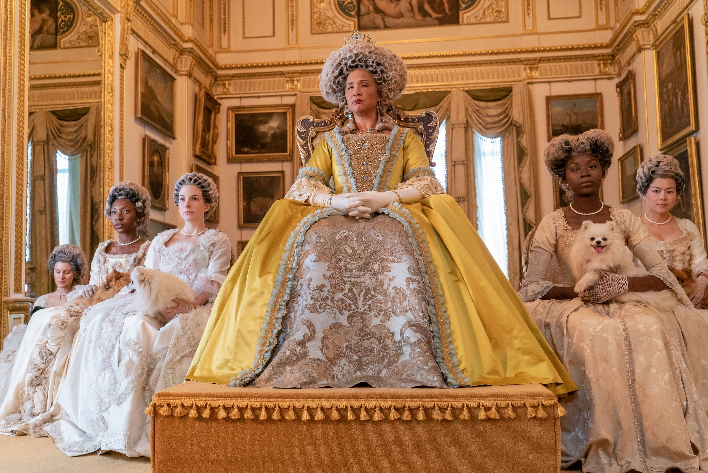 golda rosheuvel as queen charlotte in episode 105 of bridgerton