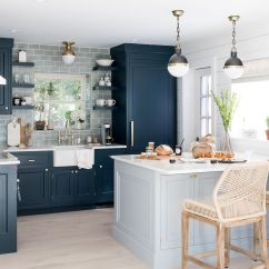 Pictures For Kitchen Walls Sink Cabinet 15 Blue Design Ideas Image