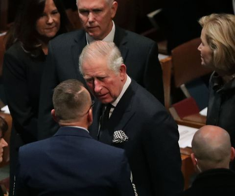 Where Did Prince Charles Sit At George Hw Bush S Funeral