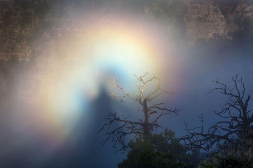 Espectro de Brocken en el Gran Cañón del Colorado