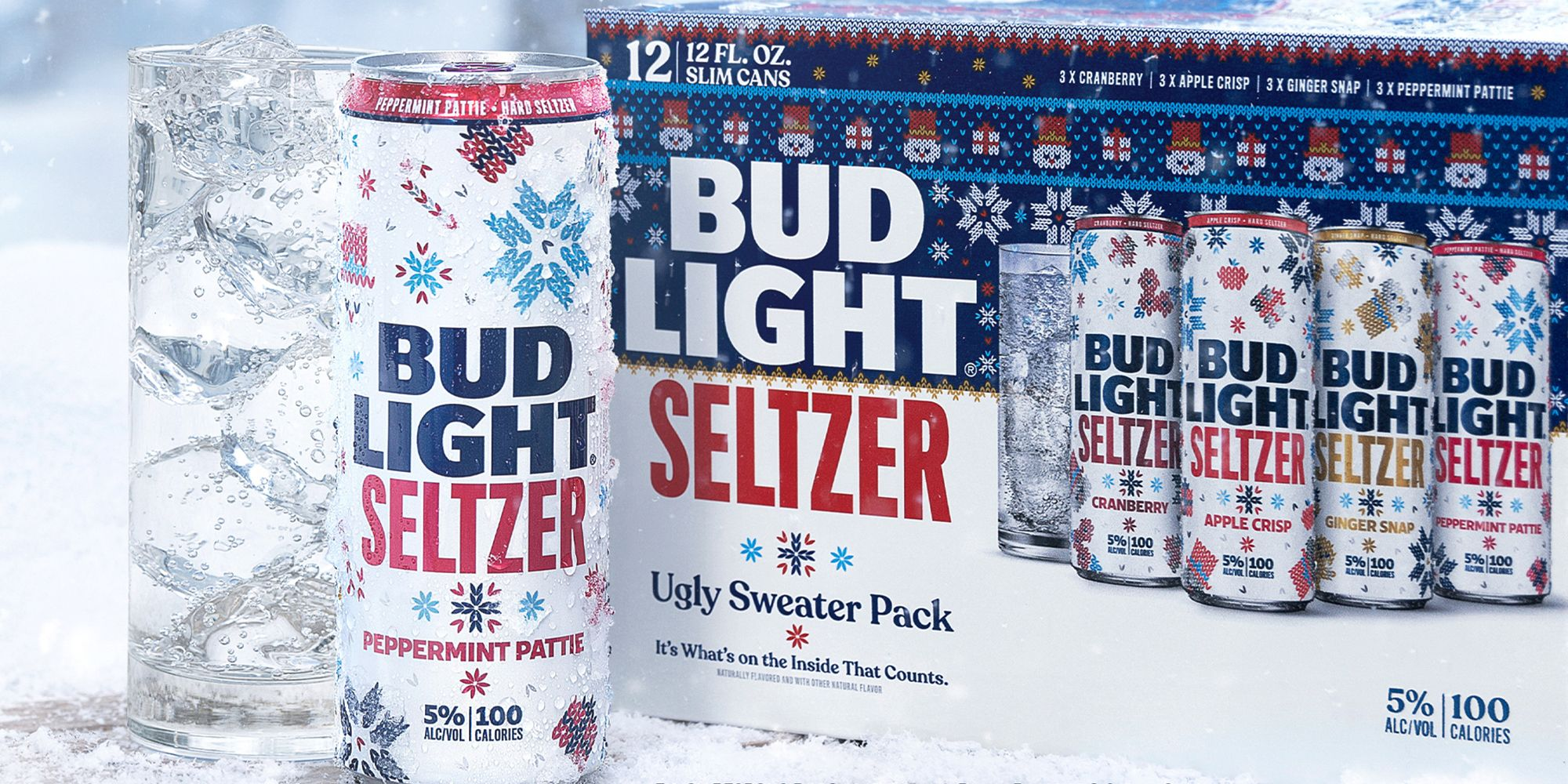 Bud Mild Seltzer Has a New Ugly Sweater Pack With