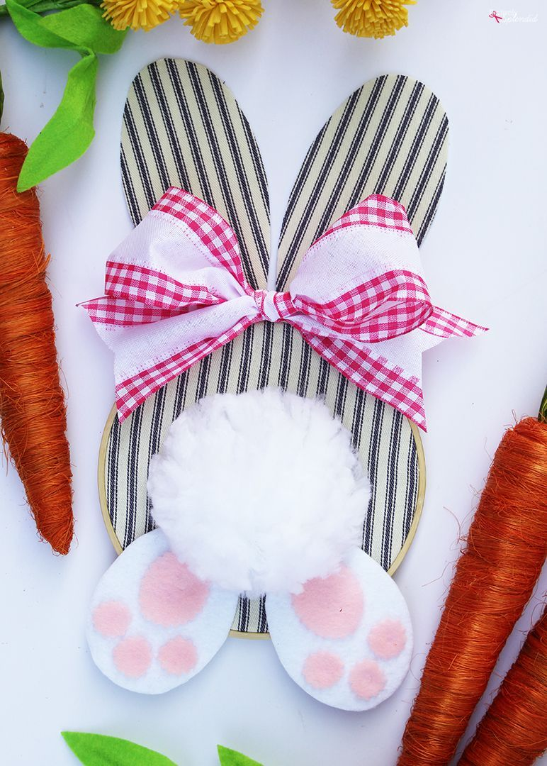 bunny wreath easter decorations