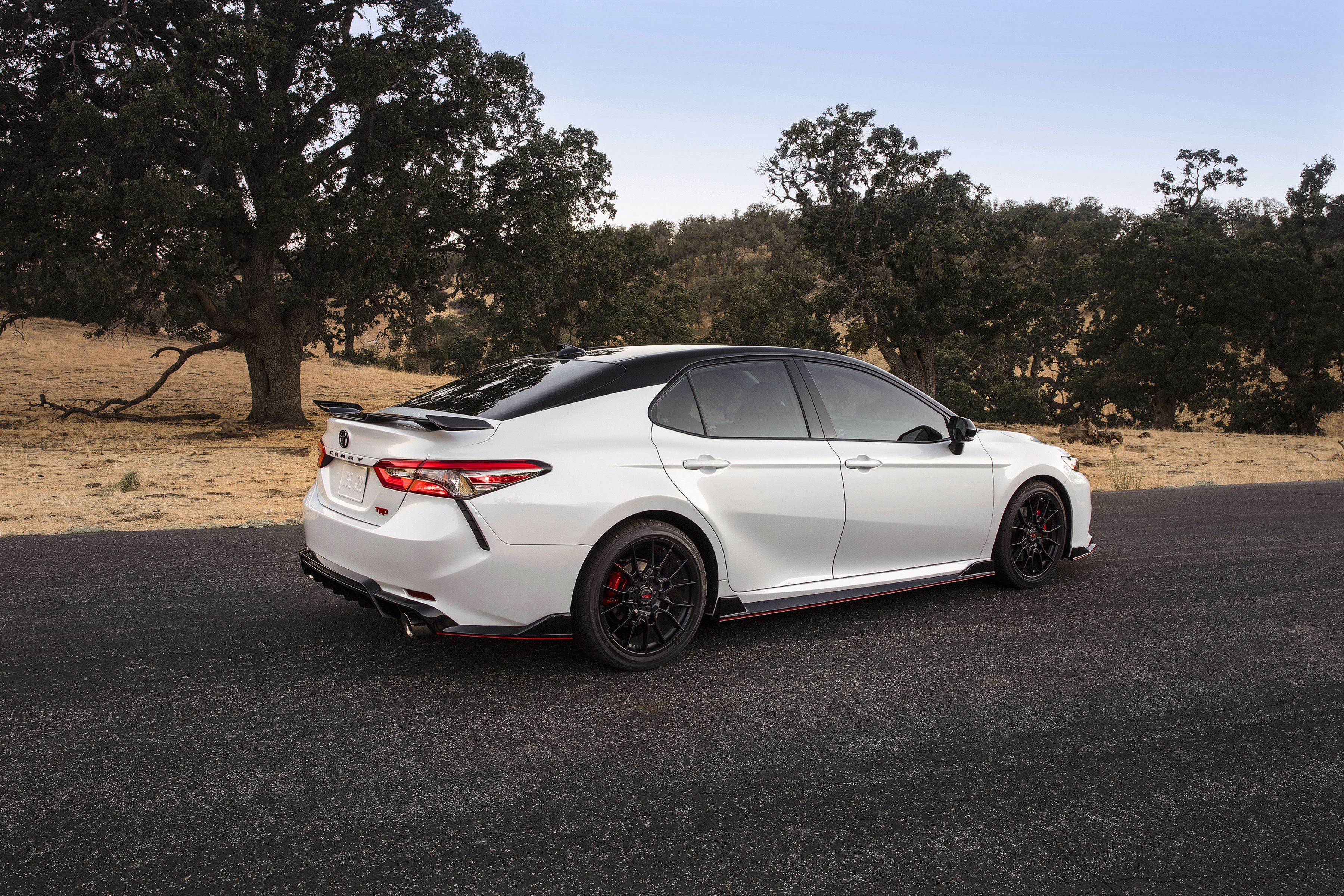is the new camry all wheel drive perbedaan alphard dan vellfire 2020 toyota trd sportiest version of mid size sedan has red seatbelts and chassis mods to back them up