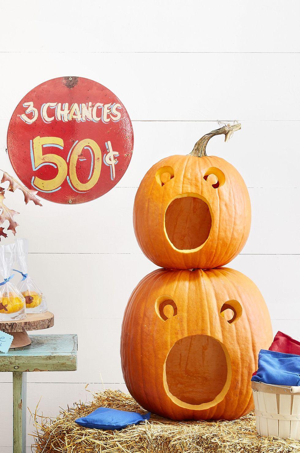 Jack-o-lantern Faces : jack-o-lantern, faces, Pumpkin, Ideas, Halloween, Faces, Carve,, Paint,, Decorate