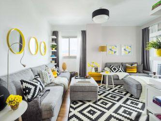 Una pequeña casa moderna y funcional en gris Casas pequeñas
